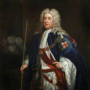 The Second Duke of Bolton Wearing the Robes of a Knight of the Garter with His Chamberlain's Wand