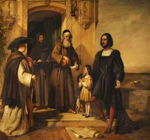 Columbus at the Door of the Convent of Santa Maria de la Rábida