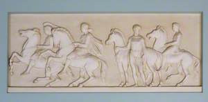 Four Men with Horses*
