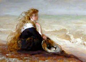 Girl Seated by Shore
