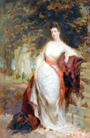 Woman Standing by Balustrade