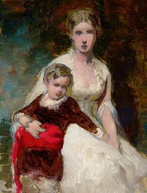 Seated Woman and Child