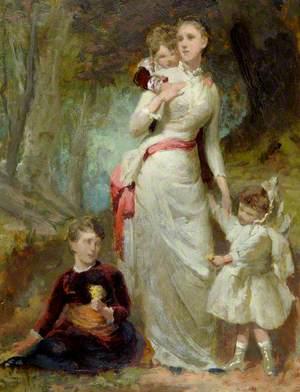 Woman and Three Children