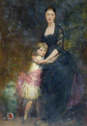 Lady with Small Girl