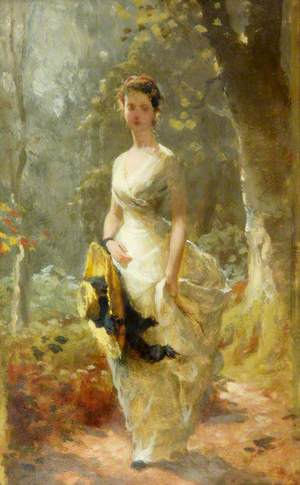 Young Lady in the Forest