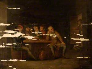 Group of Figures around a Table