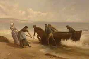Pulling Rowboat Ashore