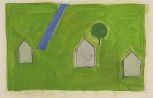 Study for 'Three Houses'