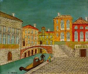 Venice: Canal Scene with a Bridge