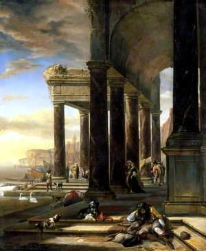An Italian Port Scene