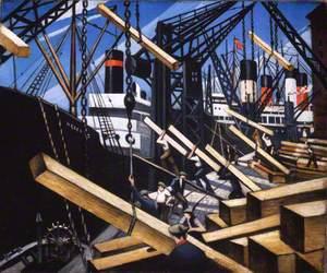 Loading Timber at Southampton Docks