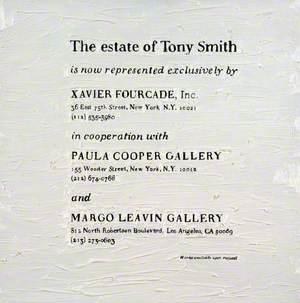 The Estate of Tony Smith