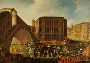 Venetian Regatta at the Rialto Bridge