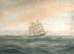 The Argentine Corvette 'Uruguay' Searching for Nordenskjöld's Expedition in the Atlantic Ocean, 1903