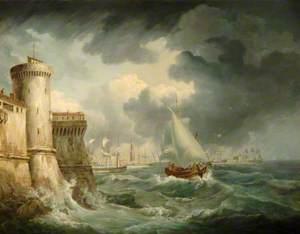 Shipping off Genoa