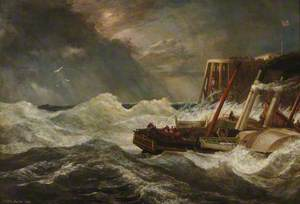 Arrival of a Steam Packet from Boulogne during a Gale, 1846