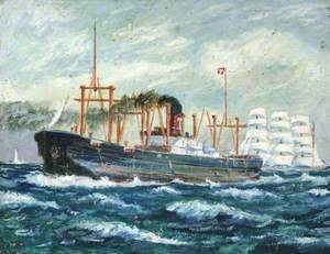 Turret Steamer and Clipper Bringing Home the Grain