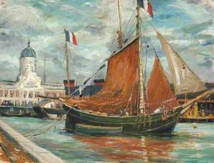 French Fishing Ketch off Town Quay