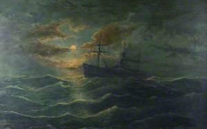 Steamship in Moonlight