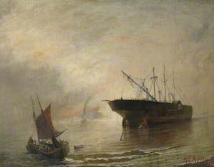 The Breaking up of the 'Great Eastern'