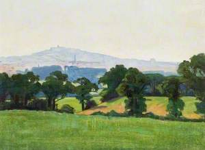 Landscape with Harrow-on-the-Hill in the Background
