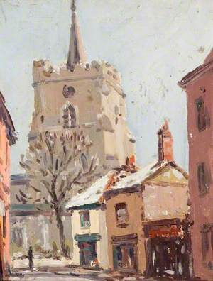 Watford Parish Church in February