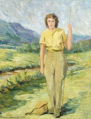 Woman with a Fishing Rod