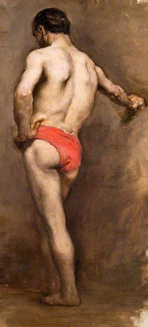Man in Red Trunks