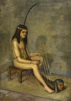 Egyptian Girl with a Harp