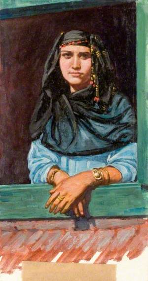 A Young Egyptian Woman in Finery with Jewellery