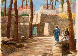 Egyptian Family in an Oasis Village