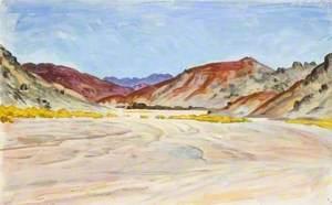 Mountains beyond a Sweep of Desert