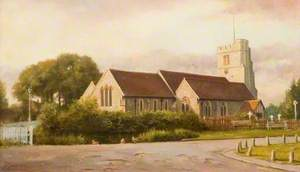 St James' Church and Pond, Bushey