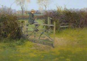 Sitting on a Gate, Bushey