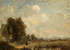 Landscape with Figures on a Country Path