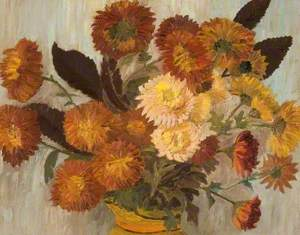 Chrysanthemums in a Jug
