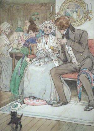 'She rubbed nervously at the diamond brooch with her thin little mittened hand'