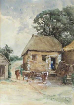 Cattle in a Farmyard