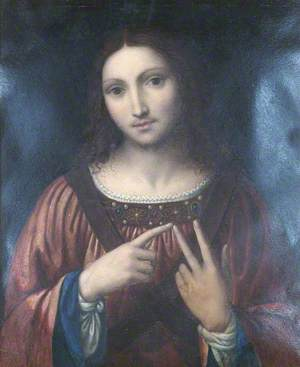 A Copy of the Christ Figure in Luini's 'Christ among the Doctors'
