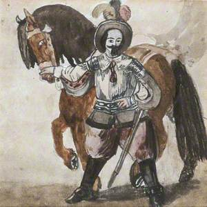 A Cavalier-Like Figure and Horse