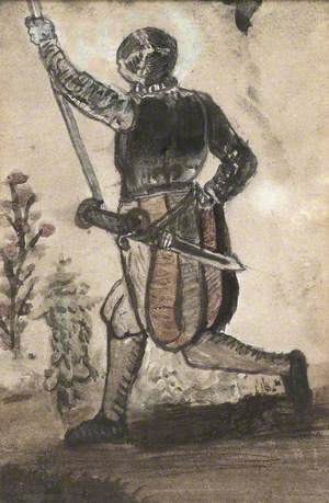 A Figure in Half Armour
