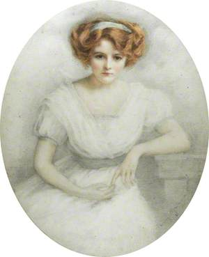 Young Woman in a White Dress