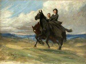 Study for 'The Riders'