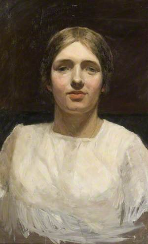 Woman in a Square-Necked Blouse