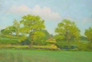 Farmland with Distant Farmstead