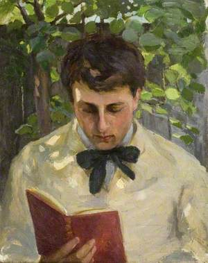 A Young Man Reading