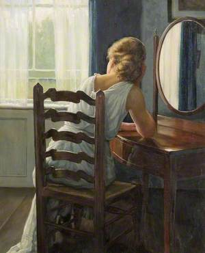 Girl at a Dressing Table