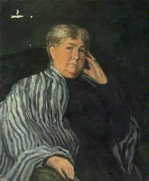 Mrs Maria Susan Chewett (1836–1918) in a Striped Shawl