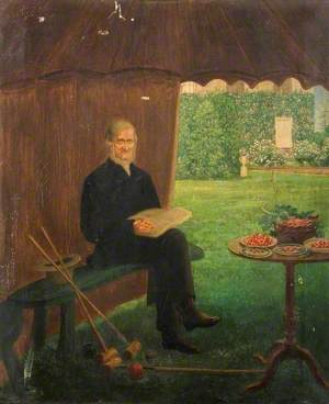 Mr Joseph Cranstone Resting after a Game of Croquet