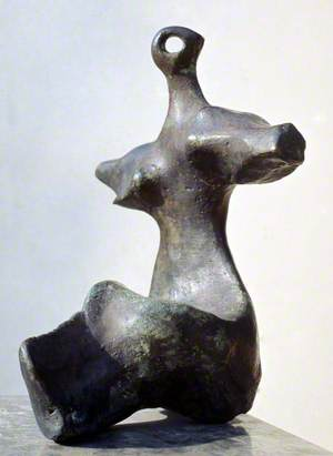 Maquette for Seated Figure: Arms Outstretched